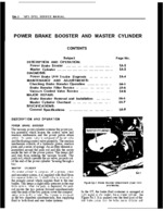 5A-Power Brake Booster and Master Cylinder