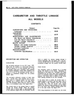 6E-Carburator and Throttle Linkage